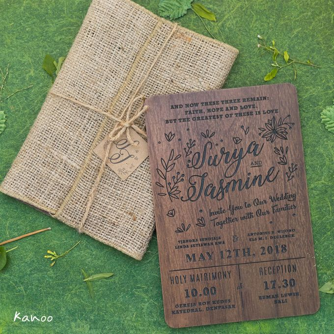 Wedding Invitation - Woody by Kanoo Paper & Gift - 001