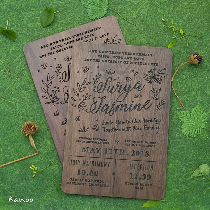 Wedding Invitation - Woody by Kanoo Paper & Gift - 004