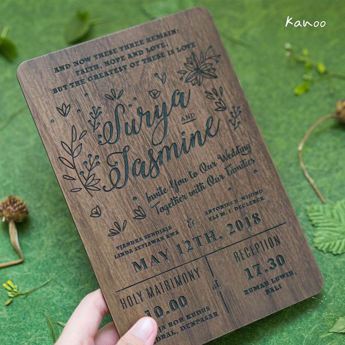 Wedding Invitation - Woody by Kanoo Paper & Gift - 005