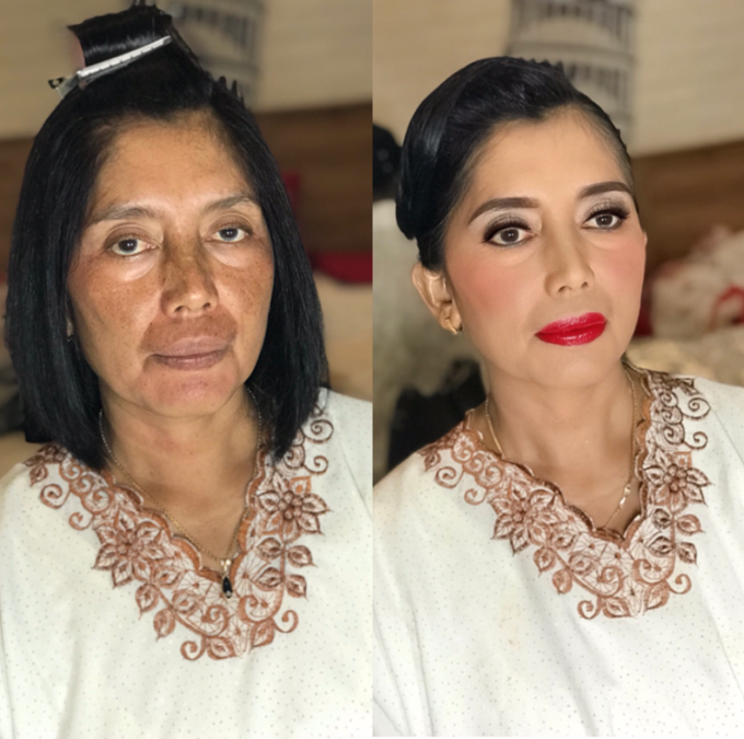 Makeup n hair do for mom of the Bride  by Sweetie bridal - 002