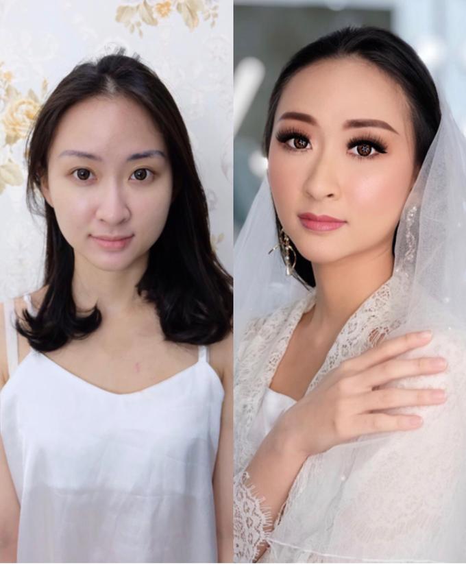Makeup n hair do modern wedding  by Sweetie bridal - 002