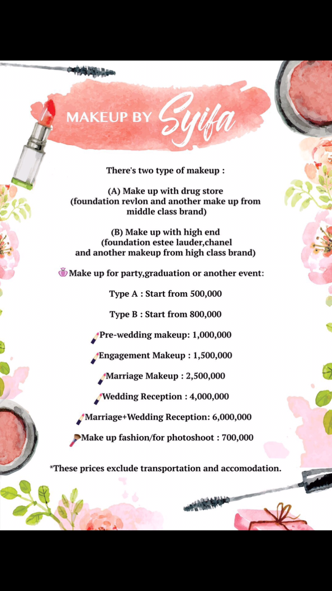 Add To Board price list by Syifa Husnaini MakeUp - 001