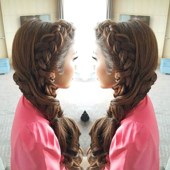 Hairstyles For Wedding Party By Makeup By Luvina Ho
