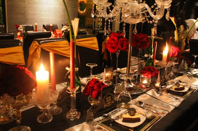Elegant Champagne Birthday Dinner For DAVID by 1994 Decoration - 001