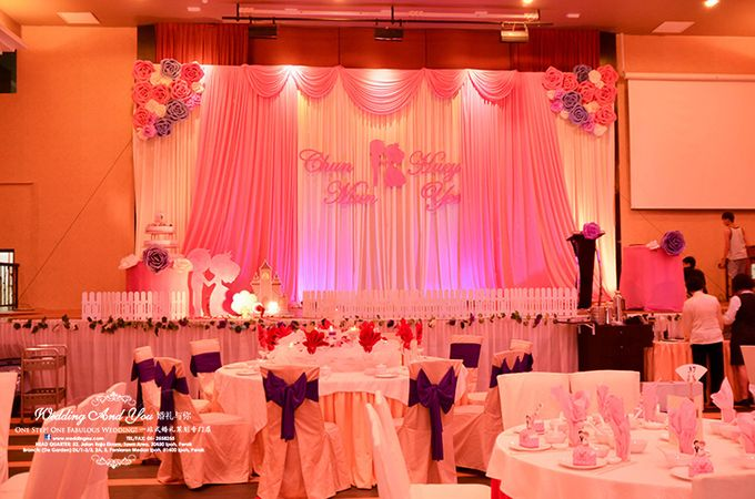 Stage Backdrop Design by Wedding And You - 024