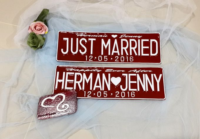 Wedding Car Plate by Sweetlovecollection - 003