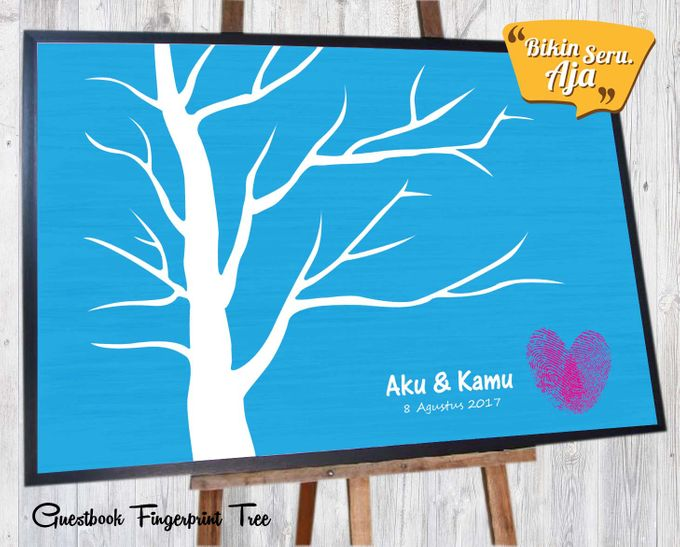 Canvas Guestbook Wedding Artwork - Fingerprint T3 by Bikinseru.aja - 007