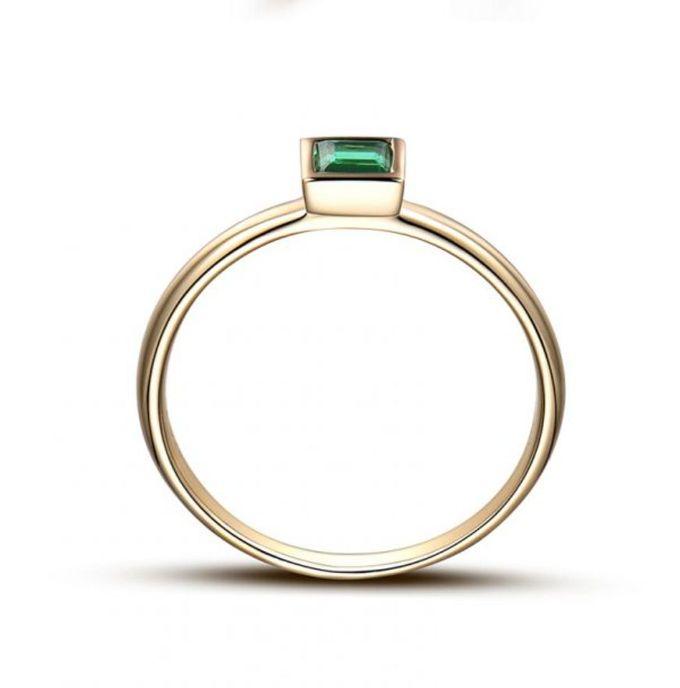 TIARIA Glittering Emerald Engagement Ring Cincin Tunangan Emerald by TIARIA - 002
