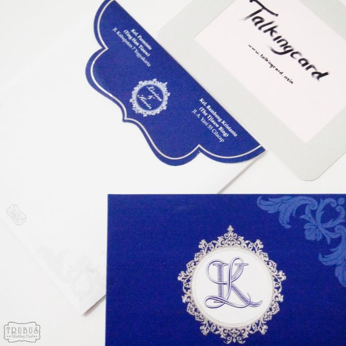 Single Blue Hardcover Invitation by TalkingCard - 001