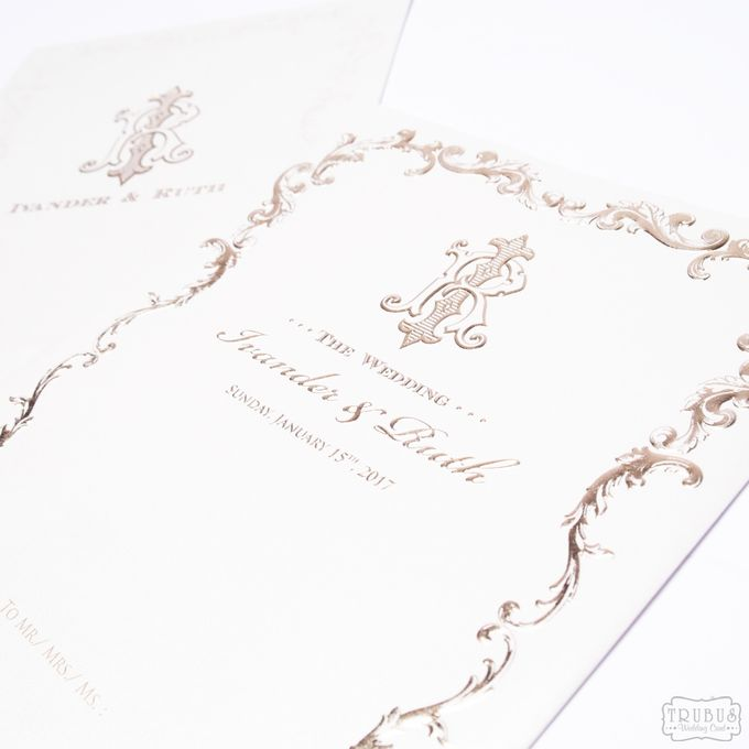 White Gold Hardcover Invitation by TalkingCard - 001