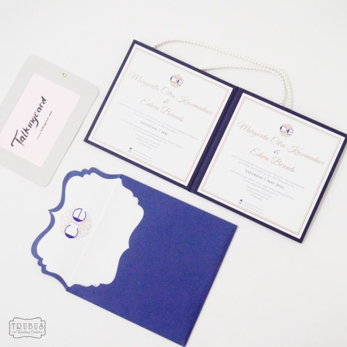 Simple Blue Hardcover Invitation by TalkingCard - 003