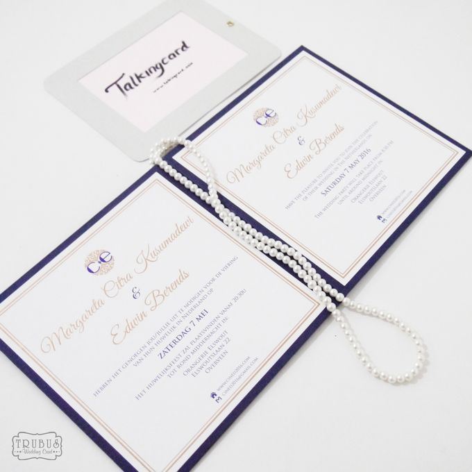 Simple Blue Hardcover Invitation by TalkingCard - 004