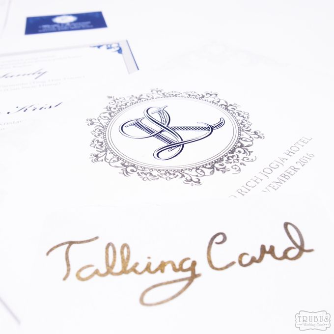 Single Blue Hardcover Invitation by TalkingCard - 006