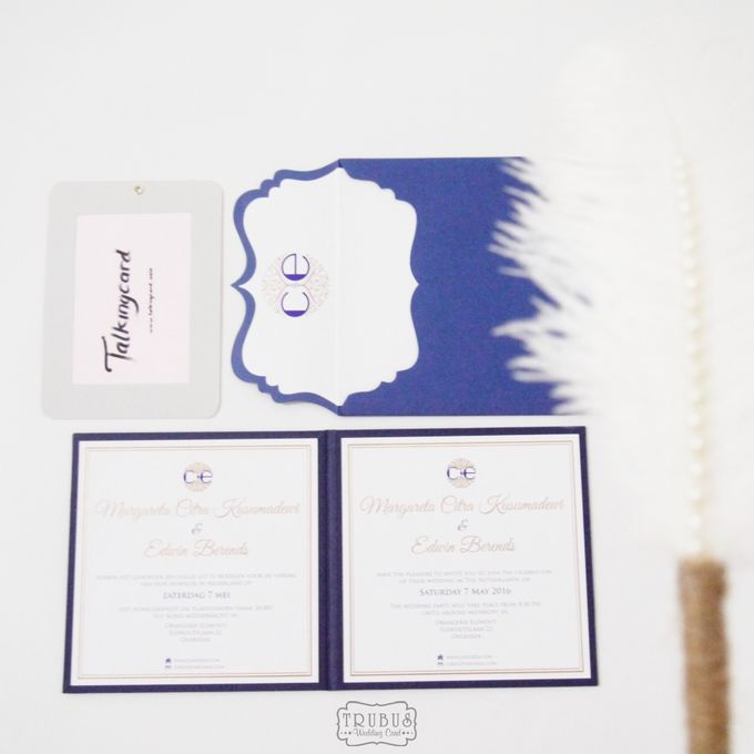 Simple Blue Hardcover Invitation by TalkingCard - 005