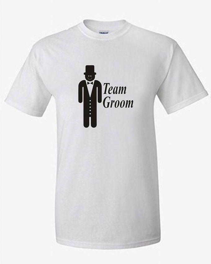 T-Shirt Couple Vintage lucu dan Kaos Bride & Groom by Dior Gift - 001