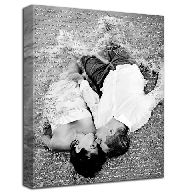Wedding Photo First Dance Canvas Wedding Vow Art Gift for Husband by Geezees Custom Canvas - 005