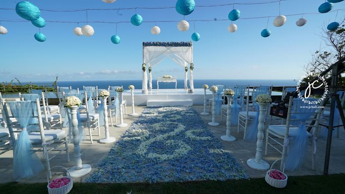 our chapel and water wedding decor by Jc Florist Bali - 029