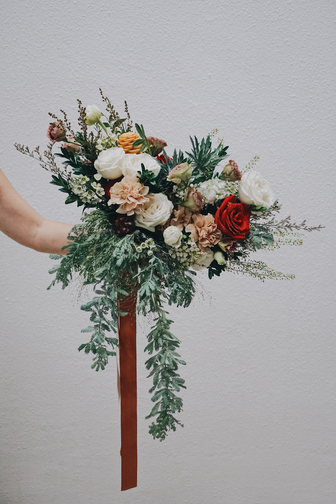 Rustic Forest Inspired Cascading Blooms by The Bloomish Eden - 001