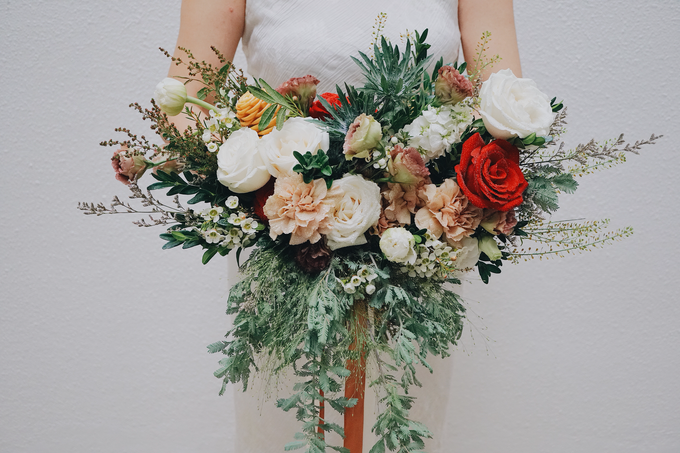 Rustic Forest Inspired Cascading Blooms by The Bloomish Eden - 004