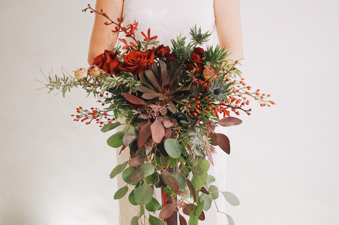 Rustic Forest Inspired Cascading Blooms by The Bloomish Eden - 009