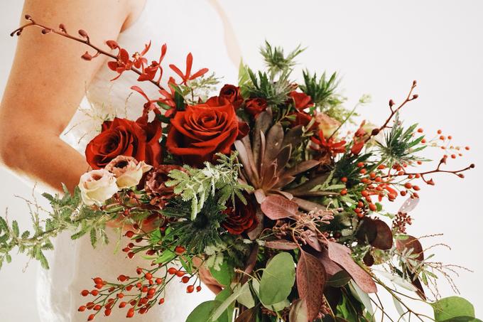Rustic Forest Inspired Cascading Blooms by The Bloomish Eden - 012
