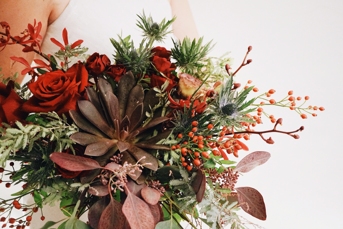Rustic Forest Inspired Cascading Blooms by The Bloomish Eden - 010