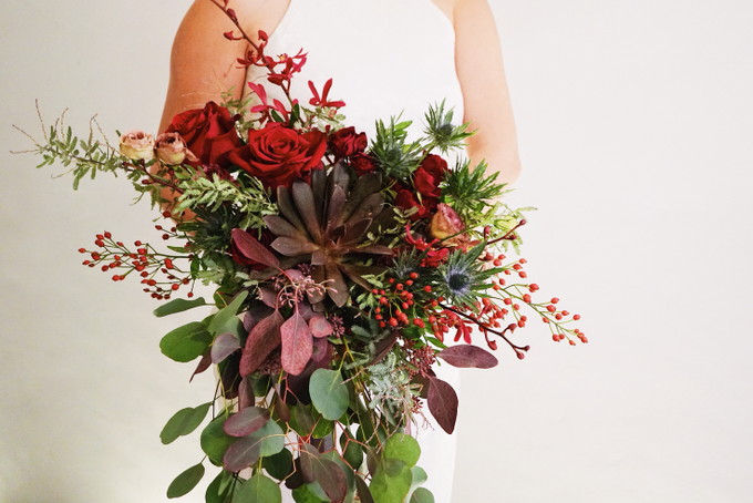 Rustic Forest Inspired Cascading Blooms by The Bloomish Eden - 011