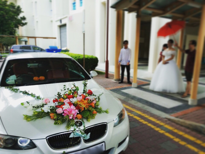 Wedding Car Decoration By The Petals Shop Bridestory
