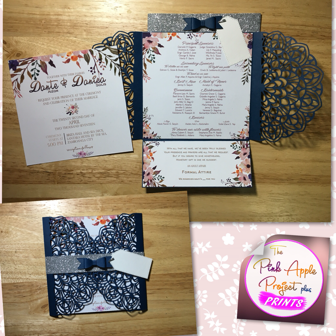 Laser cut cover invitations by The Pink Apple Project Plus Prints - 002