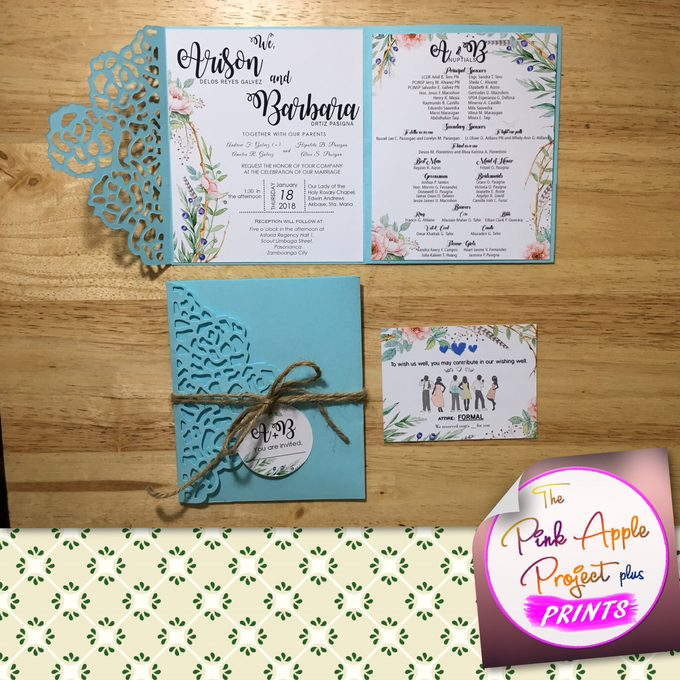 Laser cut cover invitations by The Pink Apple Project Plus Prints - 001