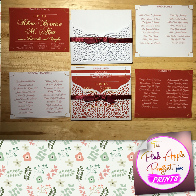Laser cut cover invitations by The Pink Apple Project Plus Prints - 003