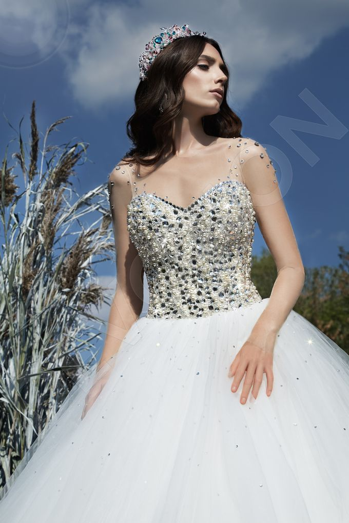 Modern Princess Ball Gown silhouette Daisy wedding dress by DevotionDresses - 001