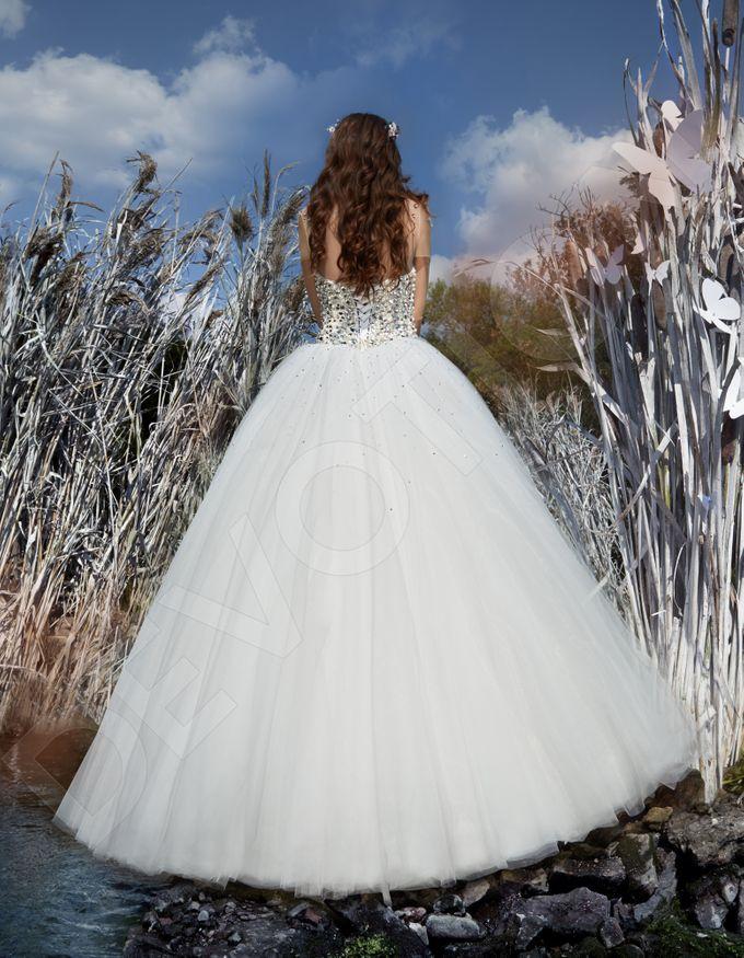 Modern Princess Ball Gown silhouette Daisy wedding dress by DevotionDresses - 003