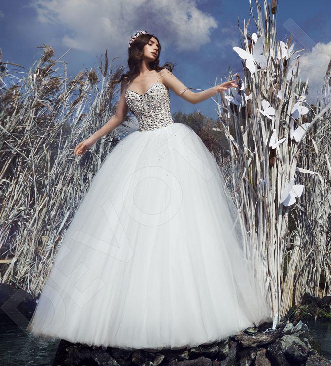 Modern Princess Ball Gown silhouette Daisy wedding dress by DevotionDresses - 002