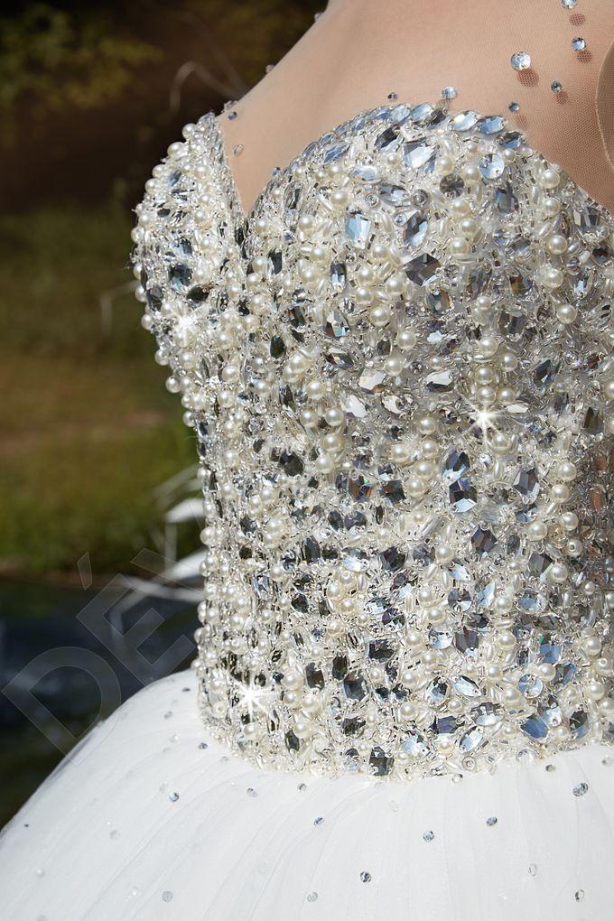 Modern Princess Ball Gown silhouette Daisy wedding dress by DevotionDresses - 004