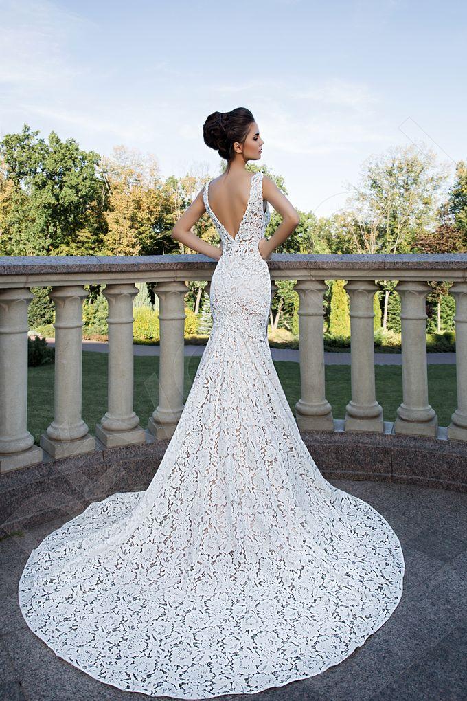 Elegant Trumpet Mermaid silhouette Azura wedding dress by DevotionDresses - 002