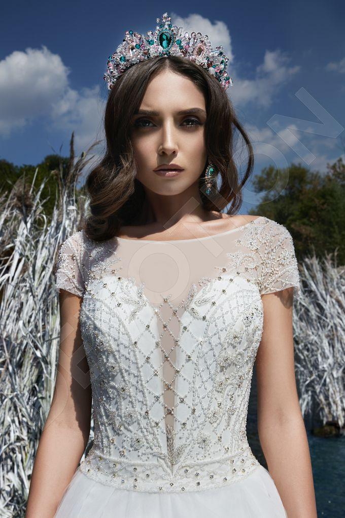 Modern Princess Ball Gown silhouette Sage wedding dress by DevotionDresses - 001