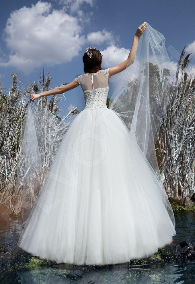 Modern Princess Ball Gown silhouette Sage wedding dress by DevotionDresses - 004