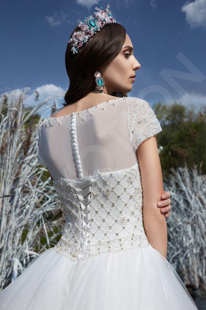 Modern Princess Ball Gown silhouette Sage wedding dress by DevotionDresses - 002