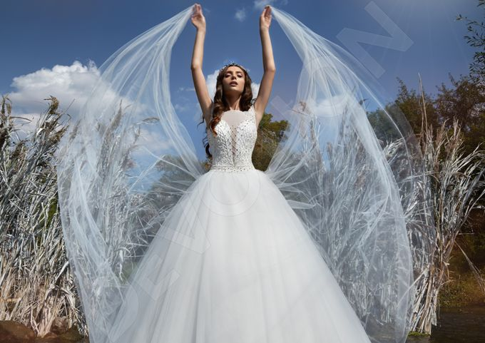 Modern Princess Ball Gown silhouette Sage wedding dress by DevotionDresses - 003