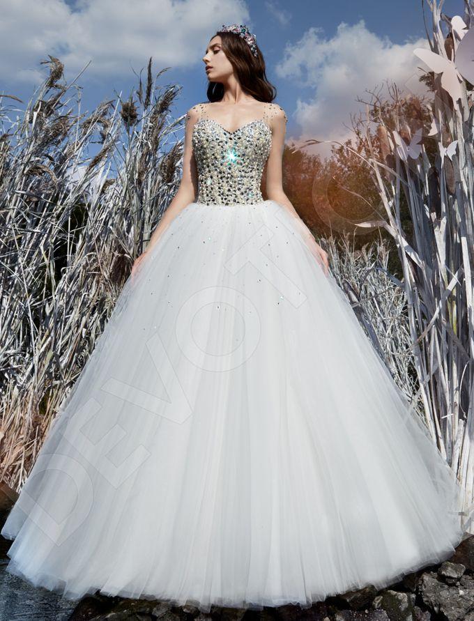 Modern Princess Ball Gown silhouette Daisy wedding dress by DevotionDresses - 005