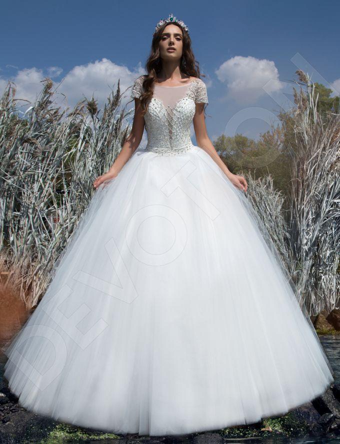 Modern Princess Ball Gown silhouette Sage wedding dress by DevotionDresses - 005