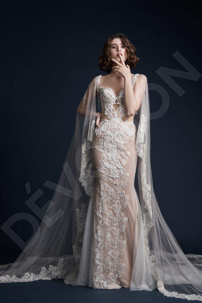 Luxury Trumpet Mermaid silhouette Ashly wedding dress by DevotionDresses - 008