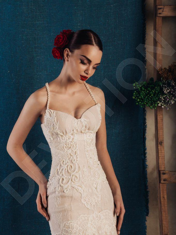 Luxury Trumpet Mermaid silhouette Virdjiniya wedding dress by DevotionDresses - 001