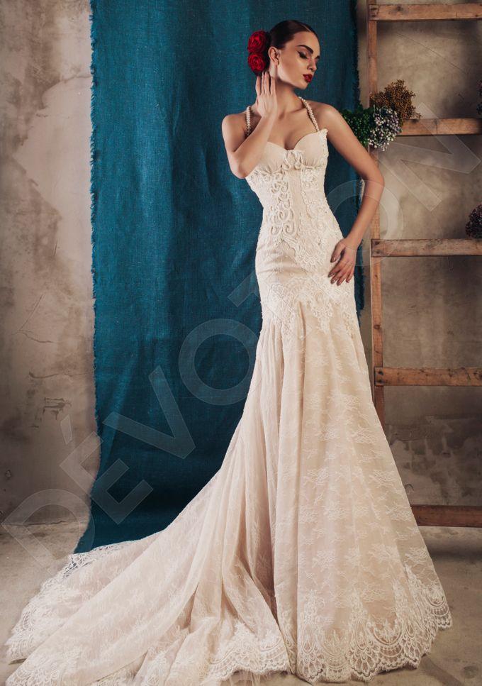 Luxury Trumpet Mermaid silhouette Virdjiniya wedding dress by DevotionDresses - 002