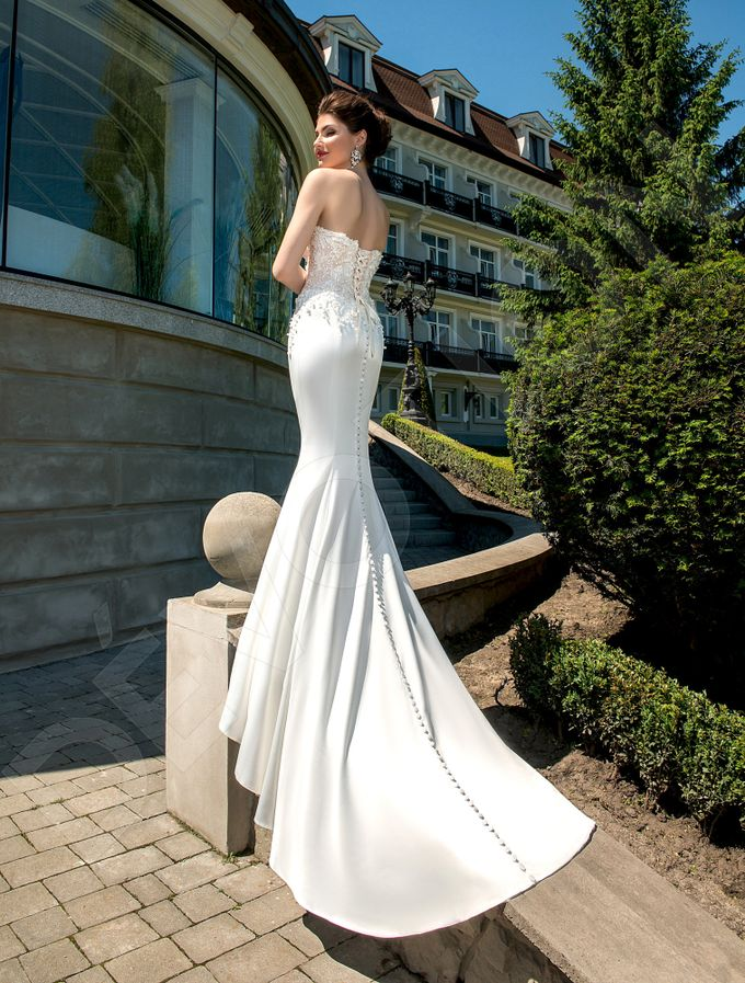 Elegant Trumpet Mermaid silhouette Luizella wedding dress by DevotionDresses - 002