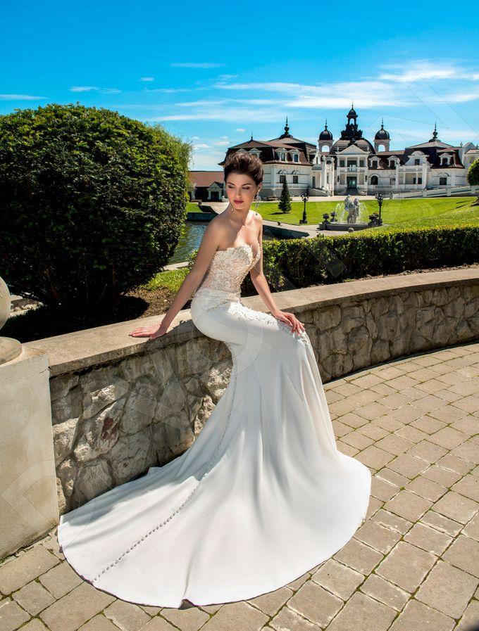 Elegant Trumpet Mermaid silhouette Luizella wedding dress by DevotionDresses - 005