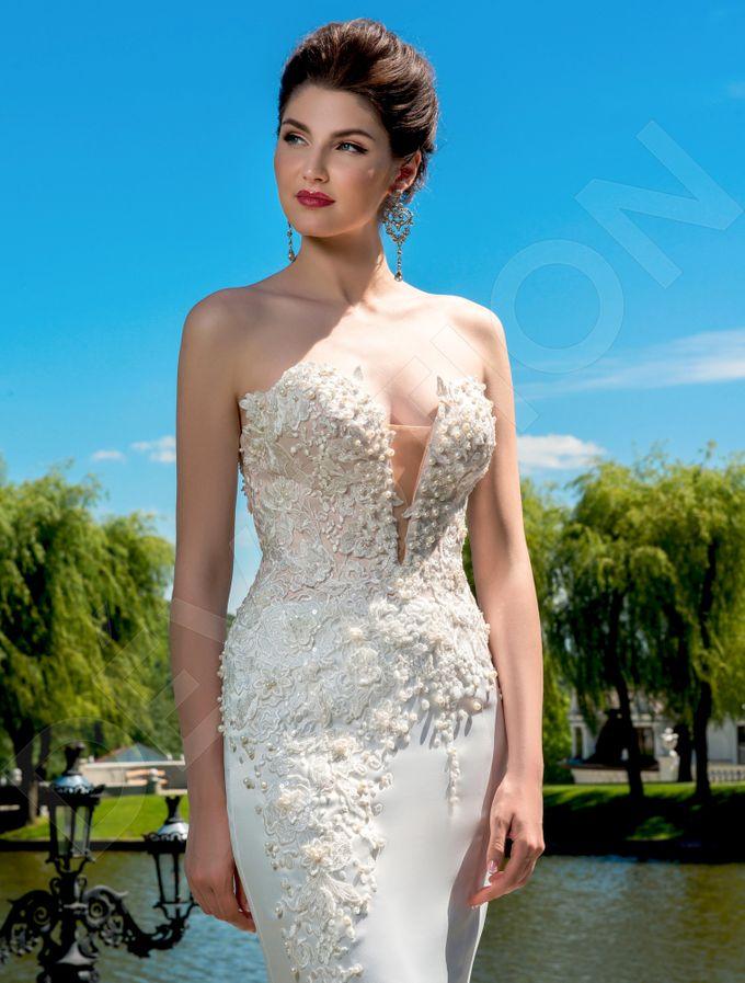 Elegant Trumpet Mermaid silhouette Luizella wedding dress by DevotionDresses - 004