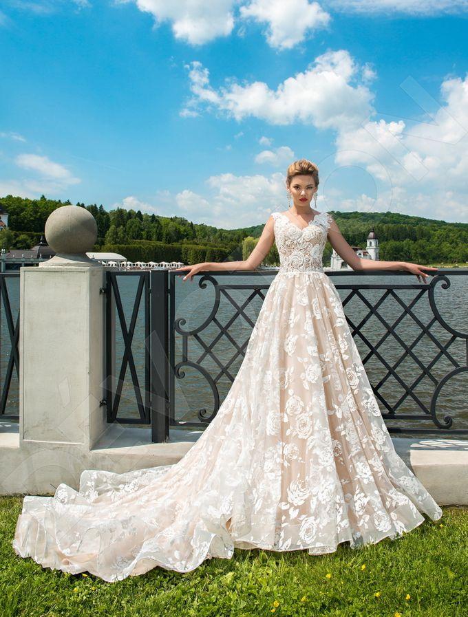 Modern A-line silhouette Pina wedding dress by DevotionDresses - 001