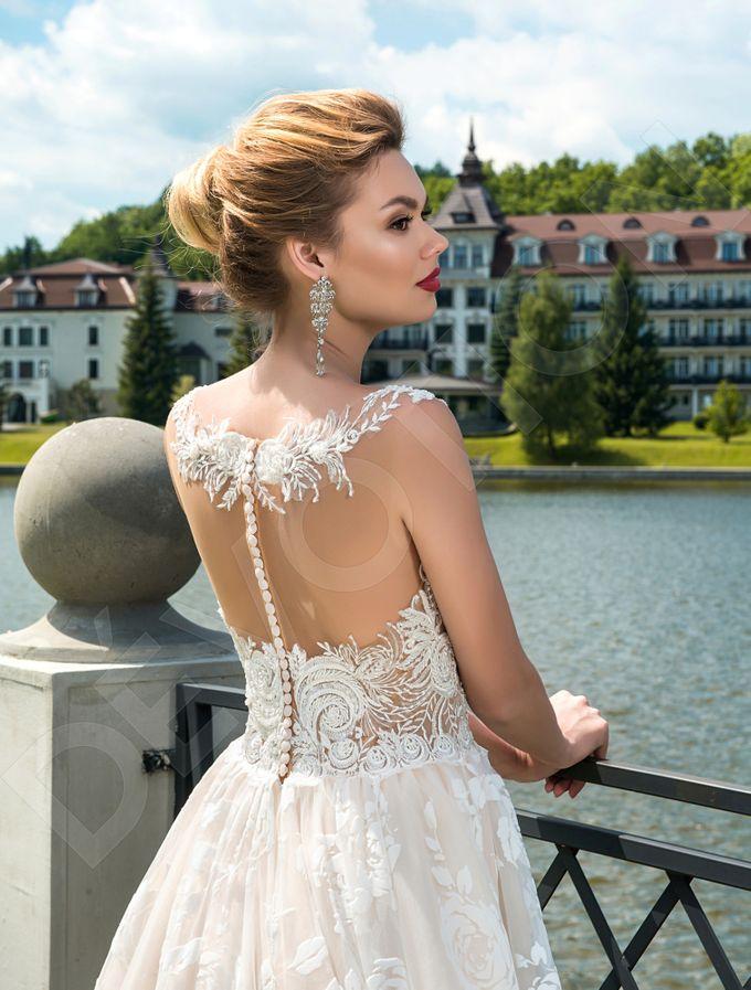 Modern A-line silhouette Pina wedding dress by DevotionDresses - 002